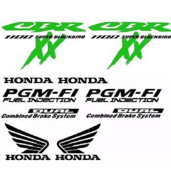 Decal Set for Honda CBR Blackbird Motorcycle Bellypan Fairings Panniers Bike